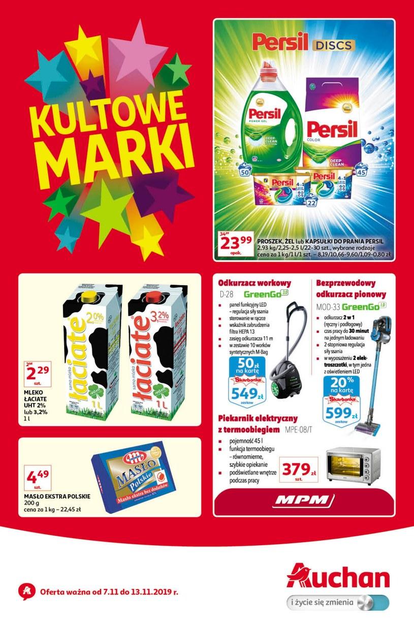 Gazetka promocyjna Auchan Hipermarket - ważna od 07. 11. 2019 do 13. 11. 2019