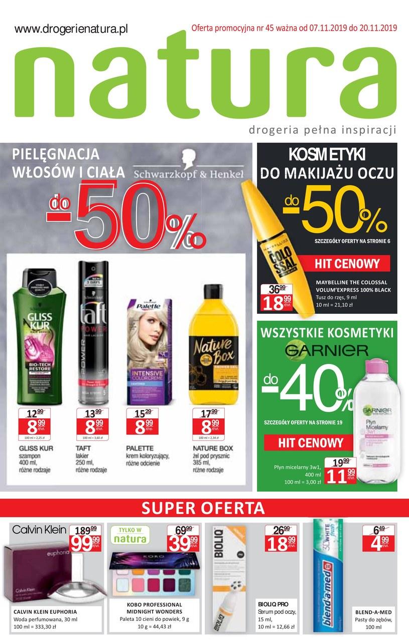 Gazetka promocyjna Drogerie Natura - ważna od 07. 11. 2019 do 20. 11. 2019