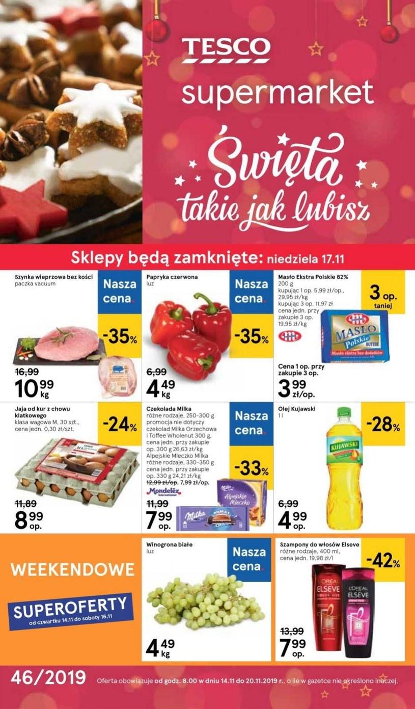 Gazetka promocyjna Tesco Supermarket - ważna od 14. 11. 2019 do 20. 11. 2019