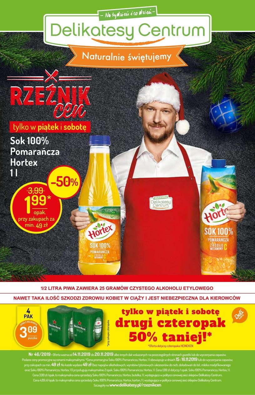 Gazetka promocyjna Delikatesy Centrum - ważna od 14. 11. 2019 do 20. 11. 2019