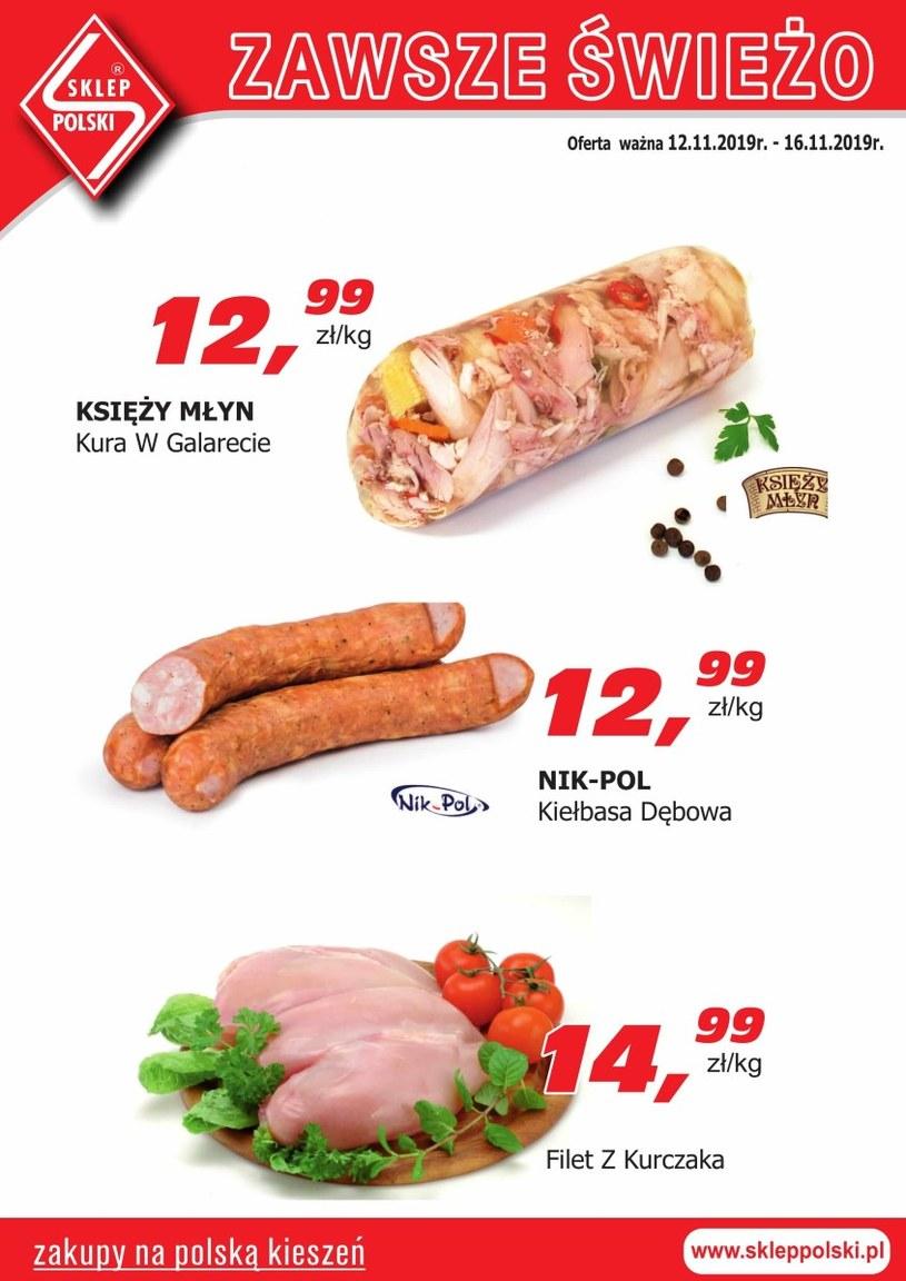 Gazetka promocyjna Sklep Polski - ważna od 12. 11. 2019 do 16. 11. 2019