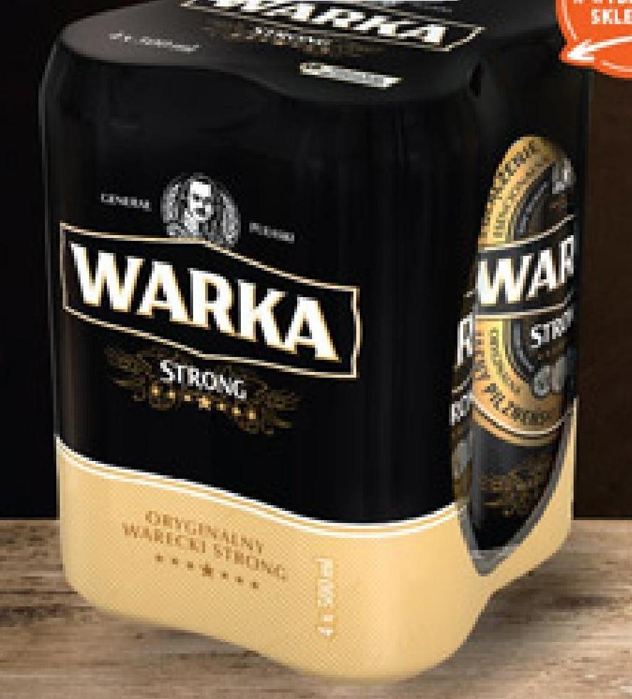 Piwo jasne Warka Strong niska cena