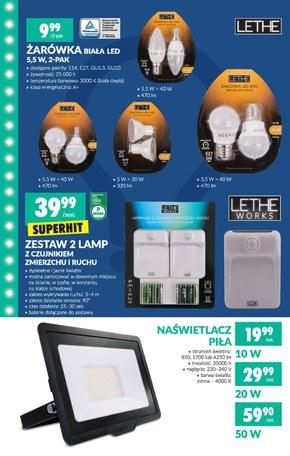 Lampa LED Lethe Works promocja Biedronka Ding.pl