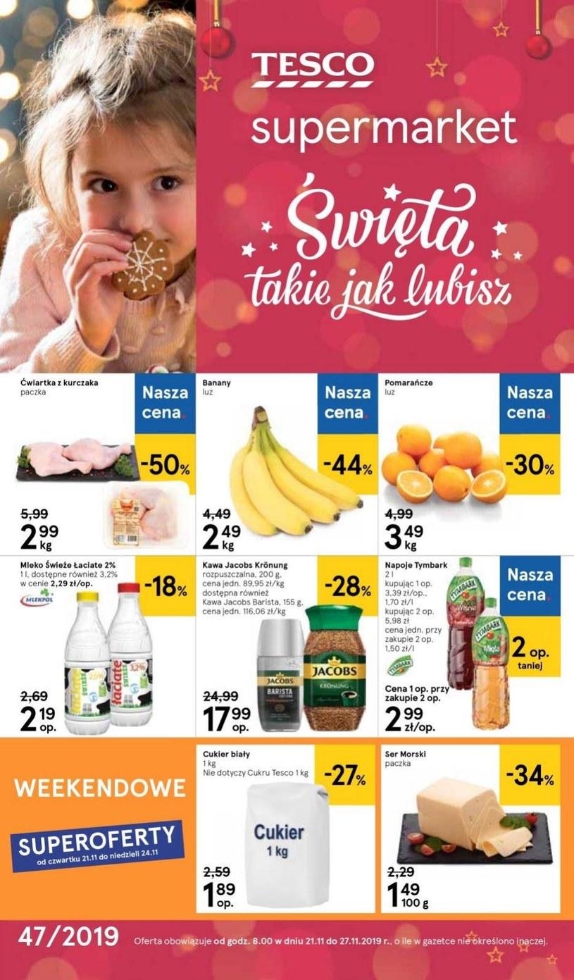 Gazetka promocyjna Tesco Supermarket - ważna od 21. 11. 2019 do 27. 11. 2019