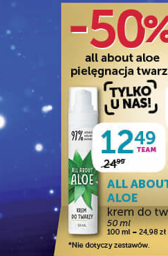 Krem All about aloe  niska cena