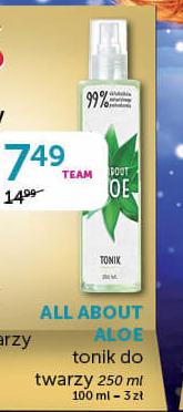 Tonik All about aloe  niska cena