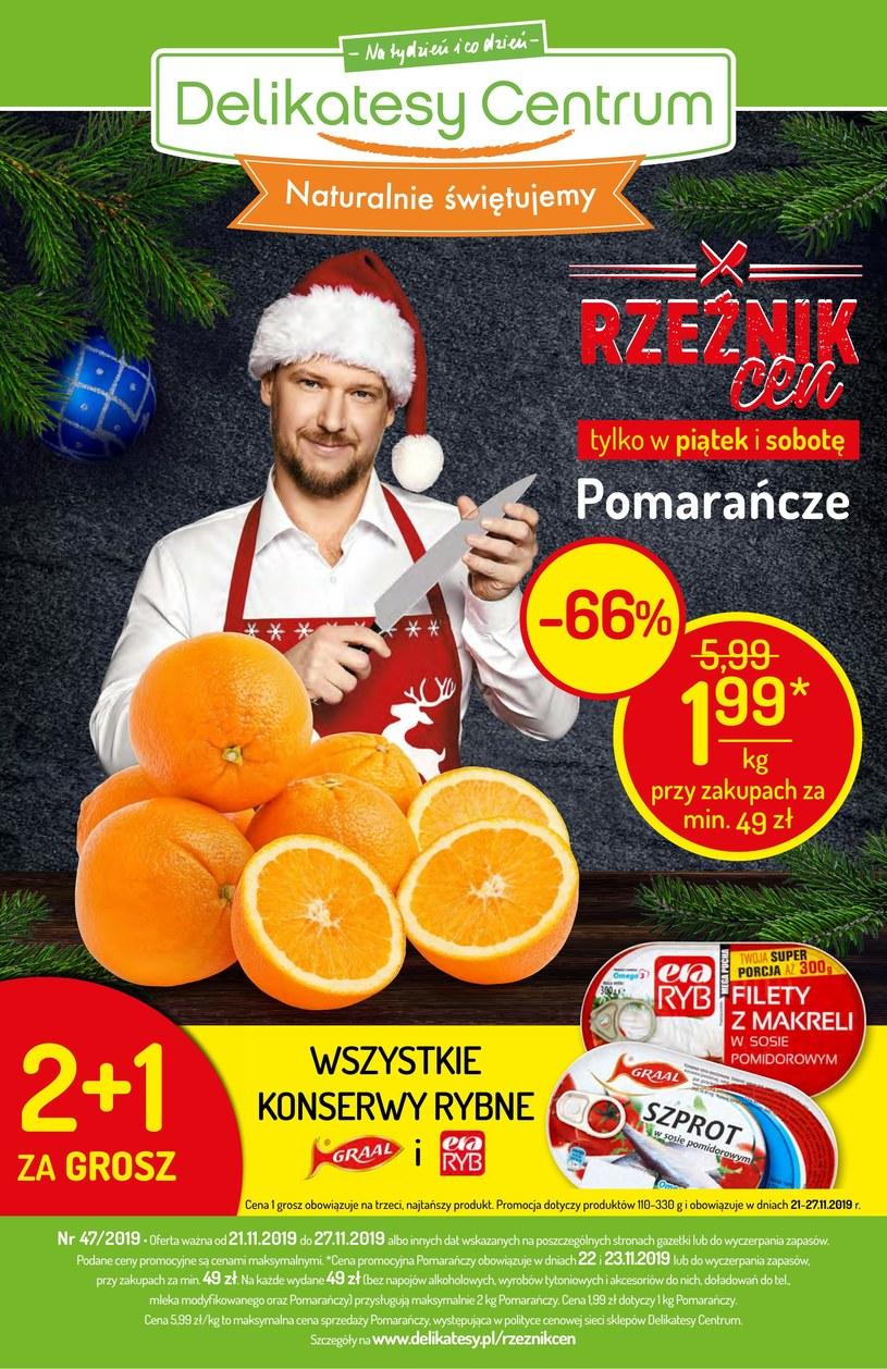 Gazetka promocyjna Delikatesy Centrum - ważna od 21. 11. 2019 do 27. 11. 2019