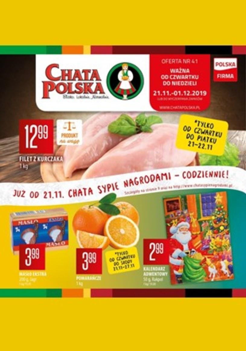 Gazetka promocyjna Chata Polska - ważna od 21. 11. 2019 do 01. 12. 2019