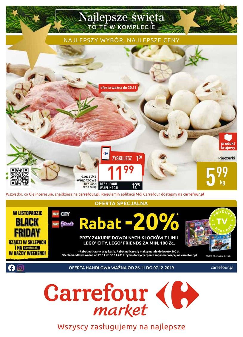 Gazetka promocyjna Carrefour Market - ważna od 26. 11. 2019 do 07. 12. 2019