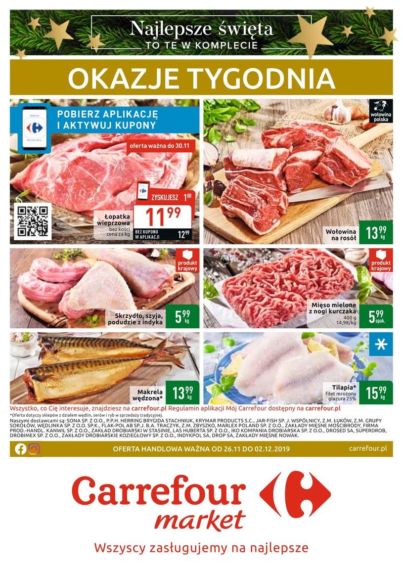 Gazetka promocyjna Carrefour Market - ważna od 26. 11. 2019 do 02. 12. 2019