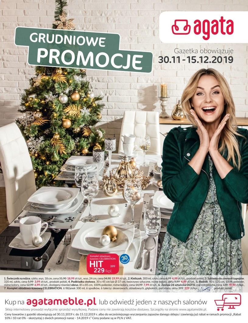 Gazetka promocyjna Agata  - ważna od 30. 11. 2019 do 15. 12. 2019