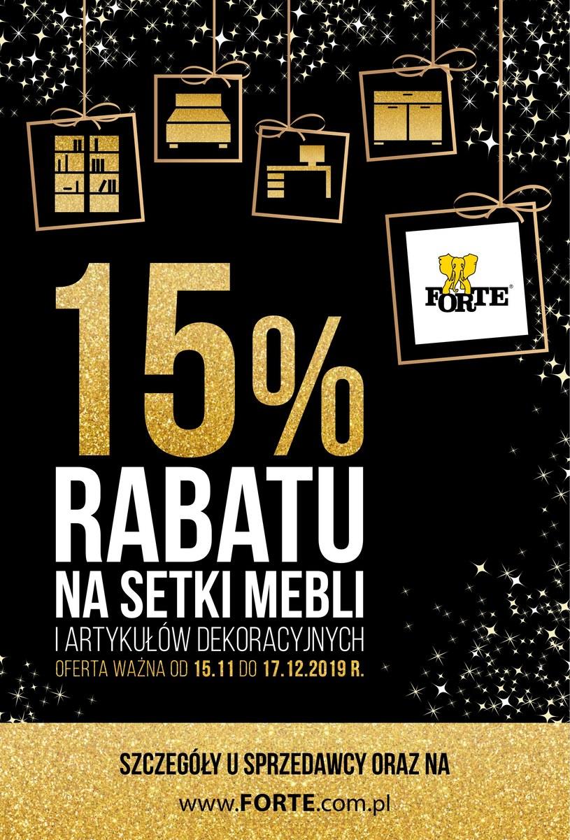 Gazetka promocyjna Forte - ważna od 15. 11. 2019 do 17. 12. 2019