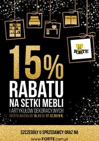 Gazetka promocyjna Forte - Meble - ważna do 17-12-2019