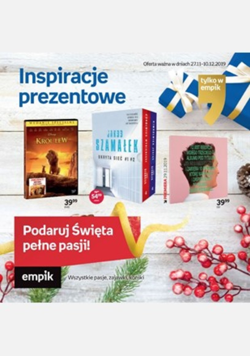 Gazetka promocyjna EMPiK - ważna od 27. 11. 2019 do 10. 12. 2019