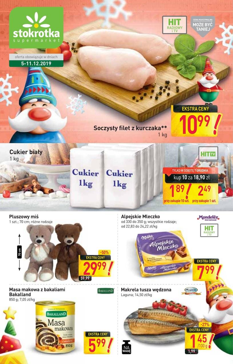 Gazetka promocyjna Stokrotka Supermarket - ważna od 05. 12. 2019 do 11. 12. 2019