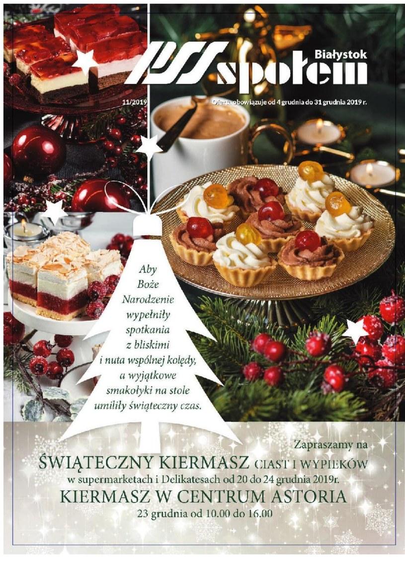 Gazetka promocyjna PSS Społem Białystok - ważna od 04. 12. 2019 do 31. 12. 2019