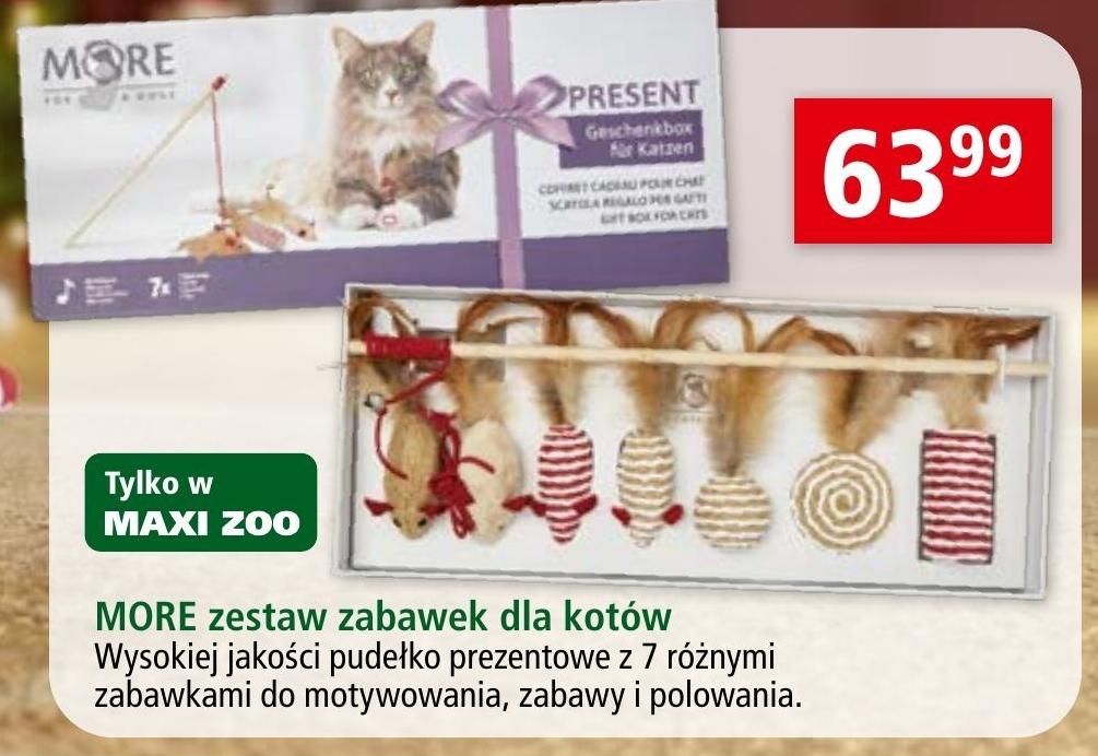 Zestaw zabawek dla kota More niska cena