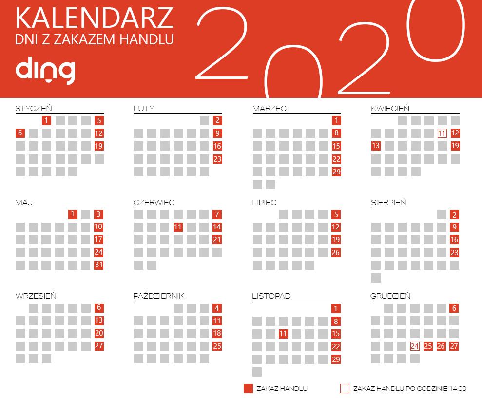 Niedziele Handlowe 2020 Ding Pl