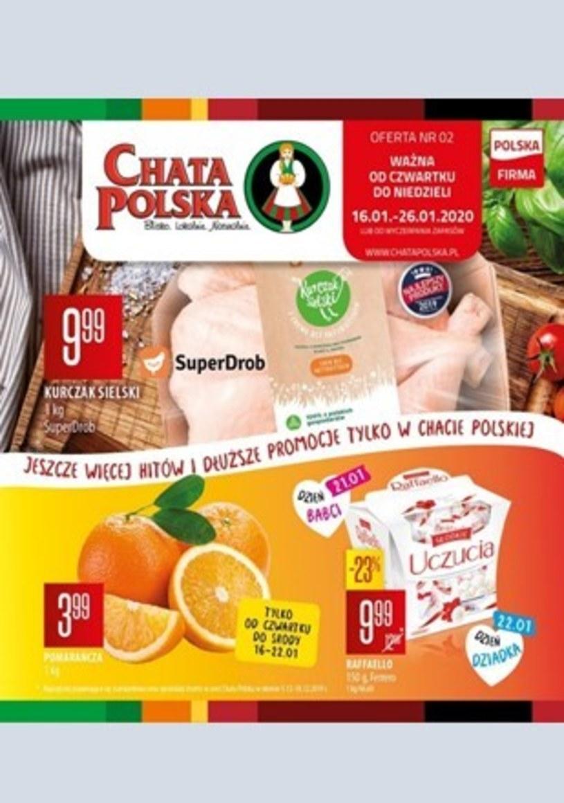 Gazetka promocyjna Chata Polska - ważna od 16. 01. 2020 do 26. 01. 2020