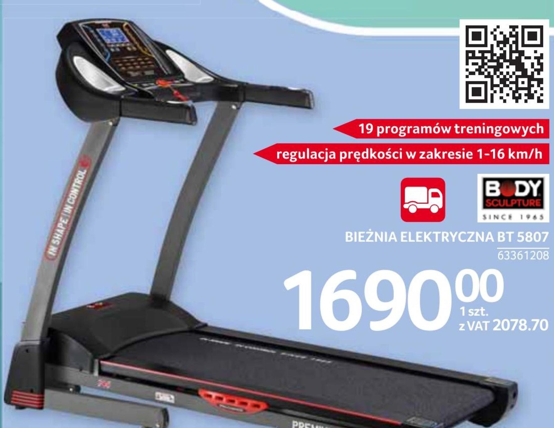 Bieżnia elektryczna BT 5807 Body Sculpture niska cena