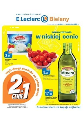 Samo zdrowie w niskiej cenie w E.Leclerc Bielany