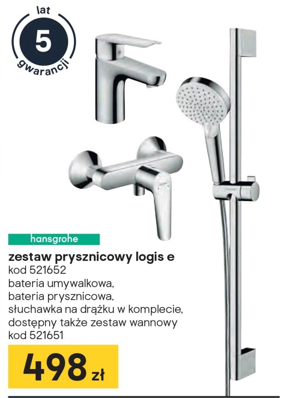 Zestaw prysznicowy Hansgrohe niska cena