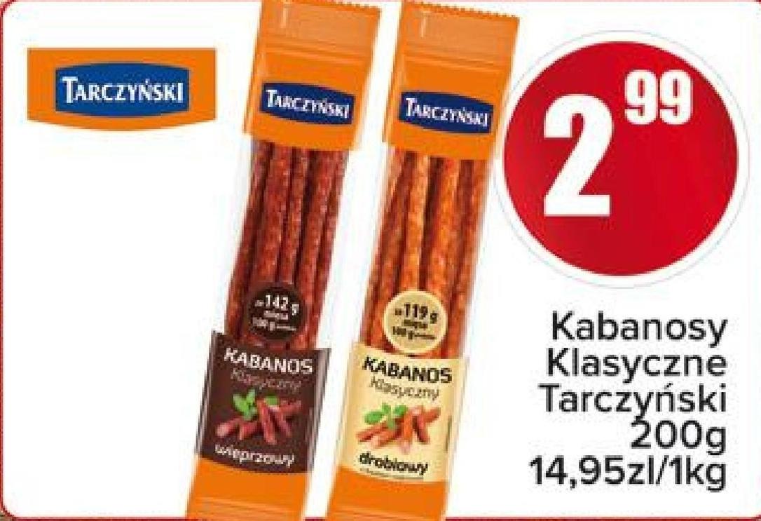 Kabanosy Tarczyński niska cena