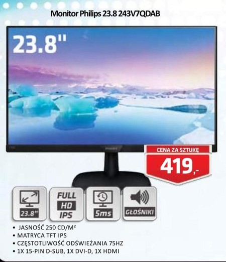 Monitor 243V7QDAB Philips