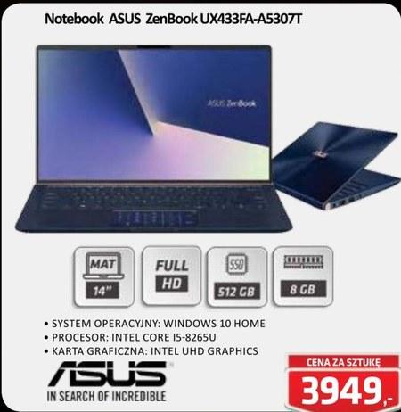 Notebook ZenBook UX433FA-A5307T ASUS