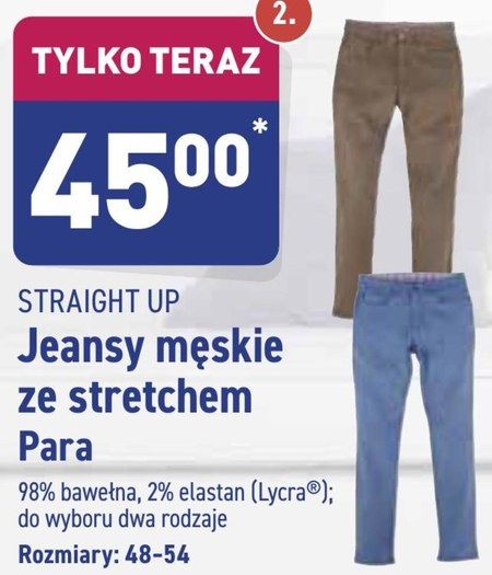 Jeansy męskie Straight Up