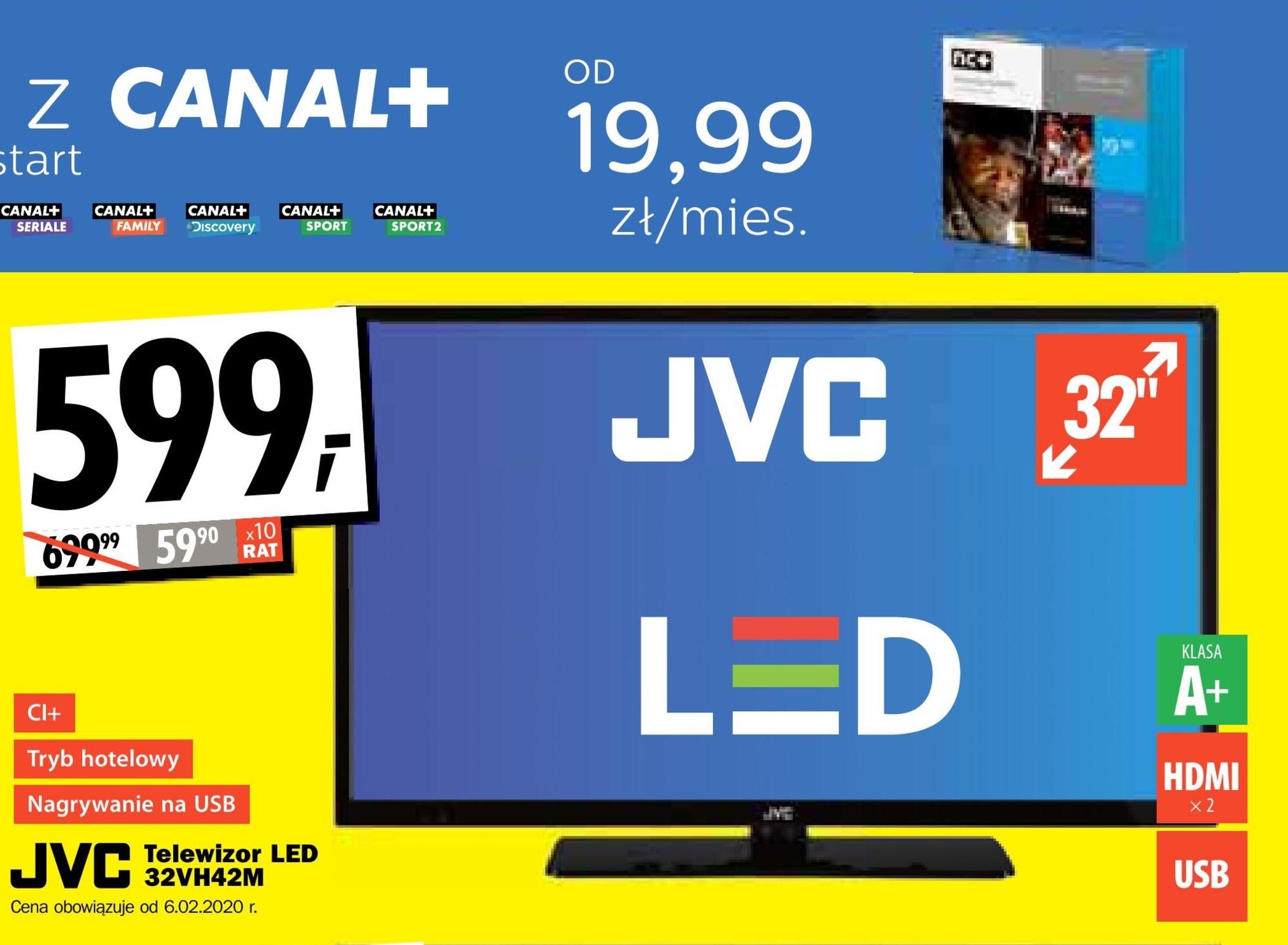 Telewizor LED 32VH42M JVC niska cena