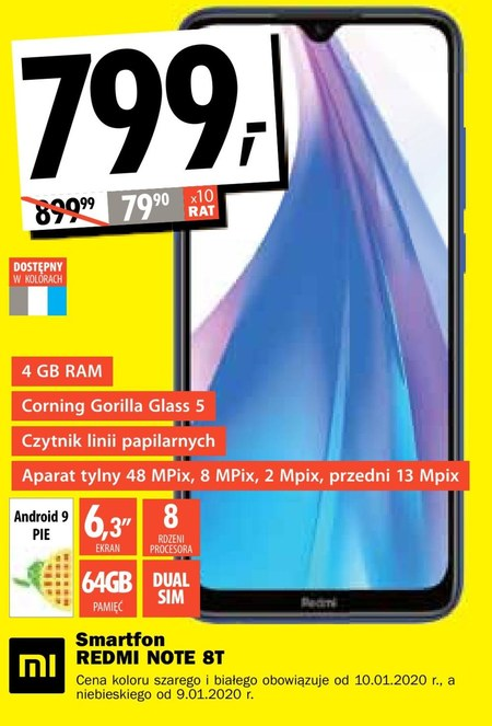 Smartfon Redmi Note 8T Xiaomi