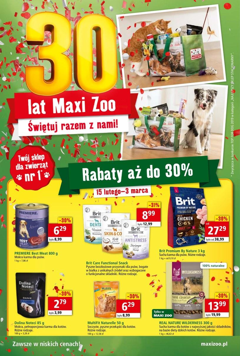 Gazetka promocyjna Maxi Zoo - ważna od 15. 02. 2020 do 03. 03. 2020
