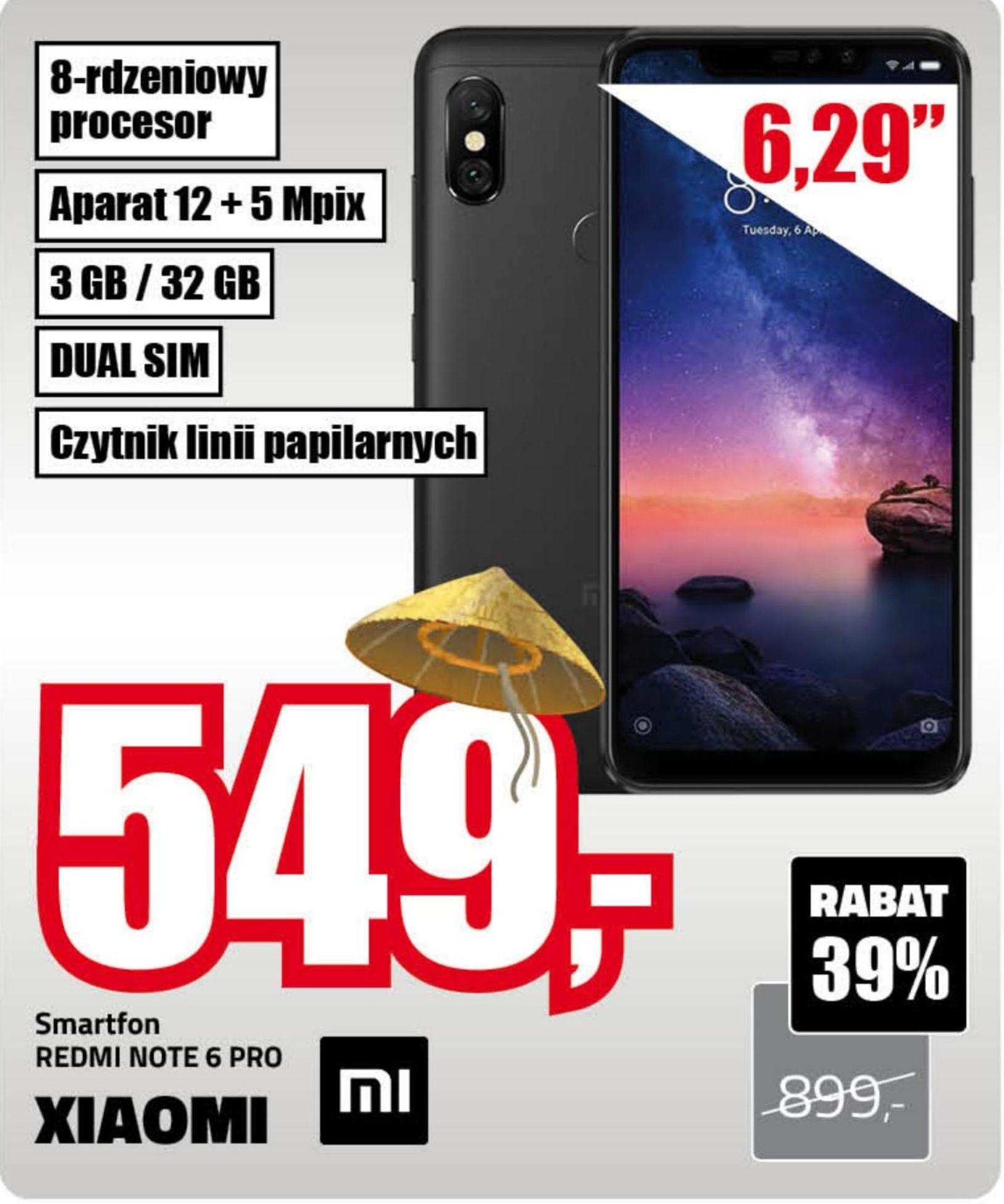 Smartfon Redmi Note 6 Pro Xiaomi niska cena