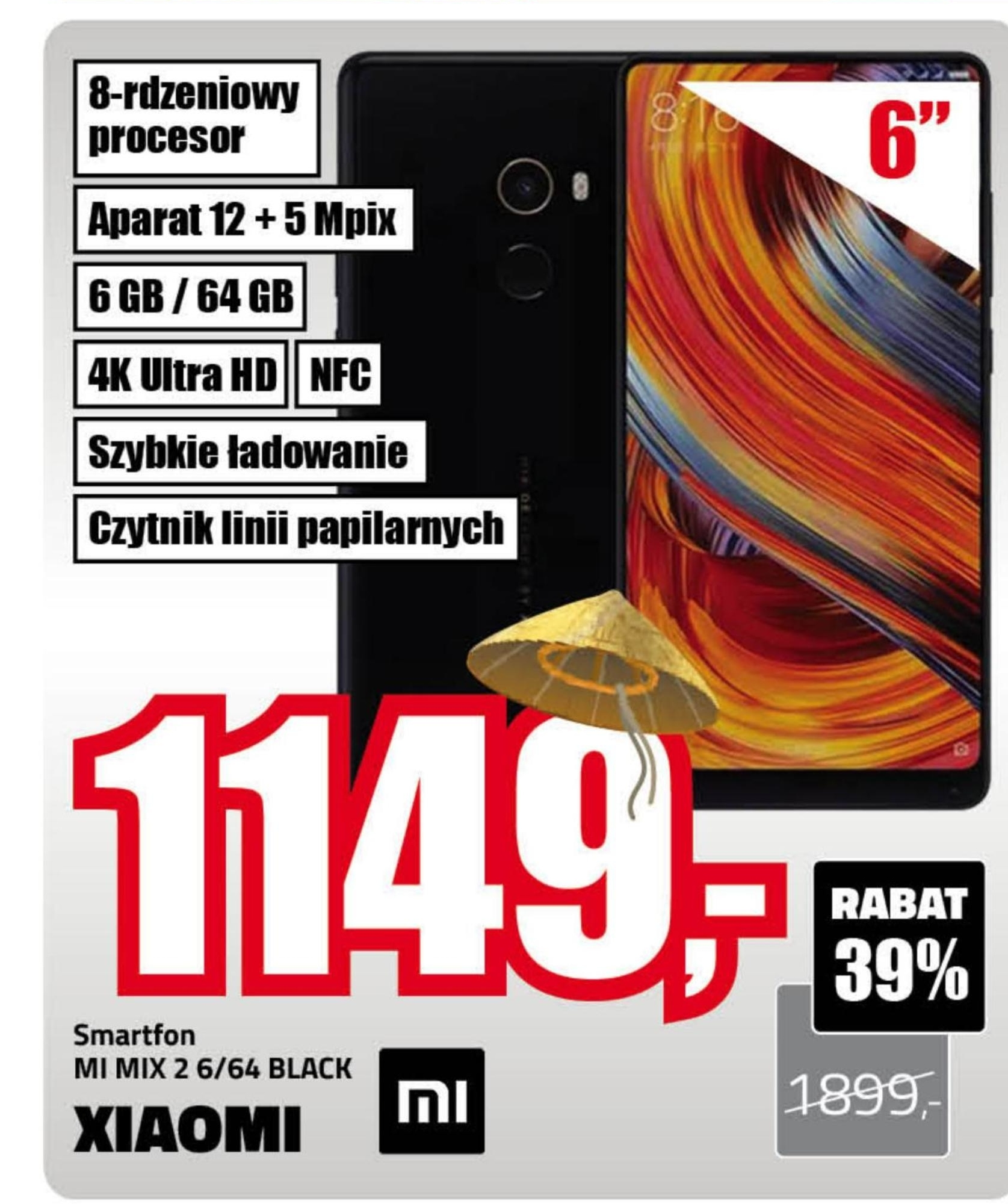 Smartfon MI MIX 2 Xiaomi niska cena
