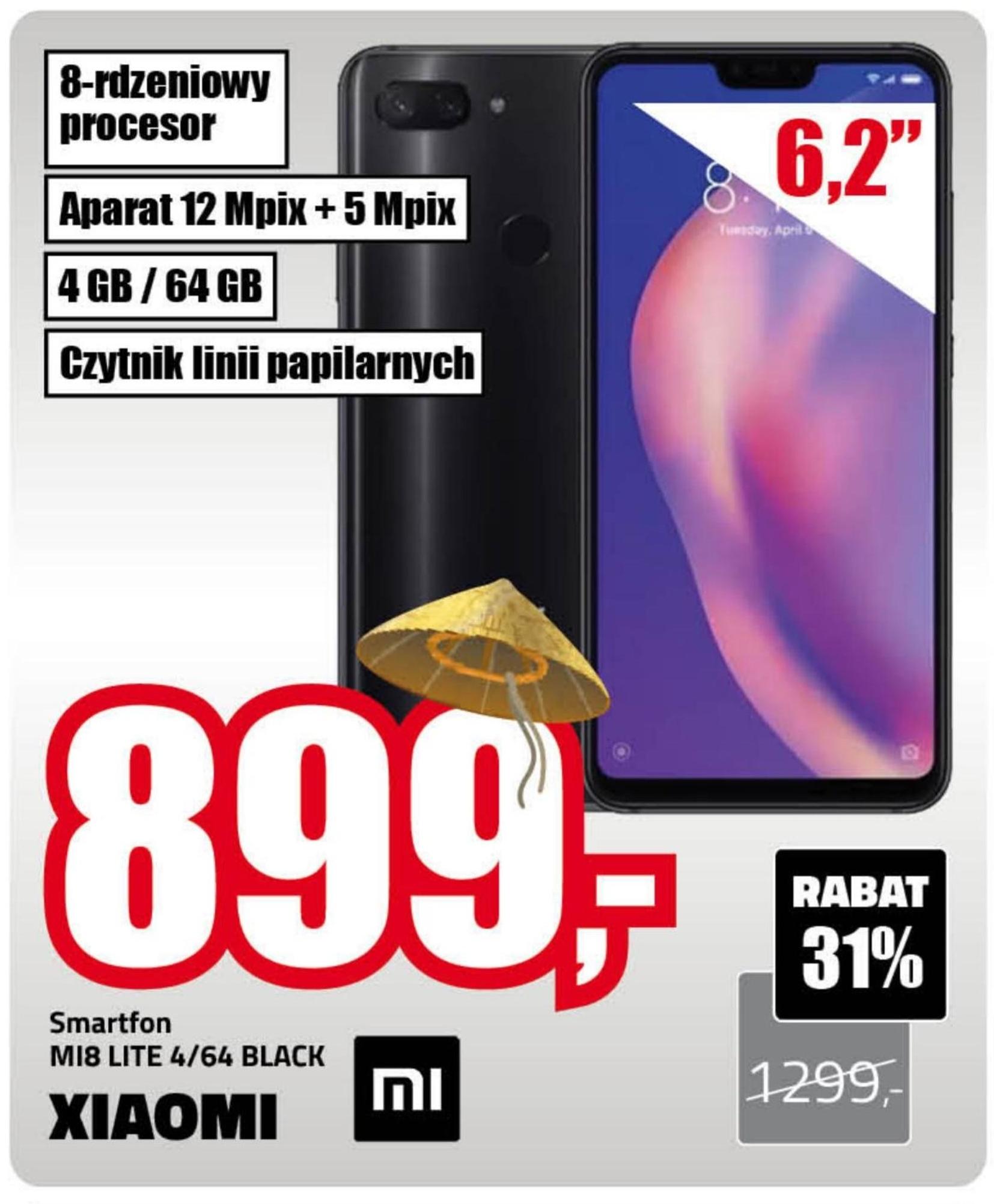 Smartfon MI8 Lite Xiaomi niska cena