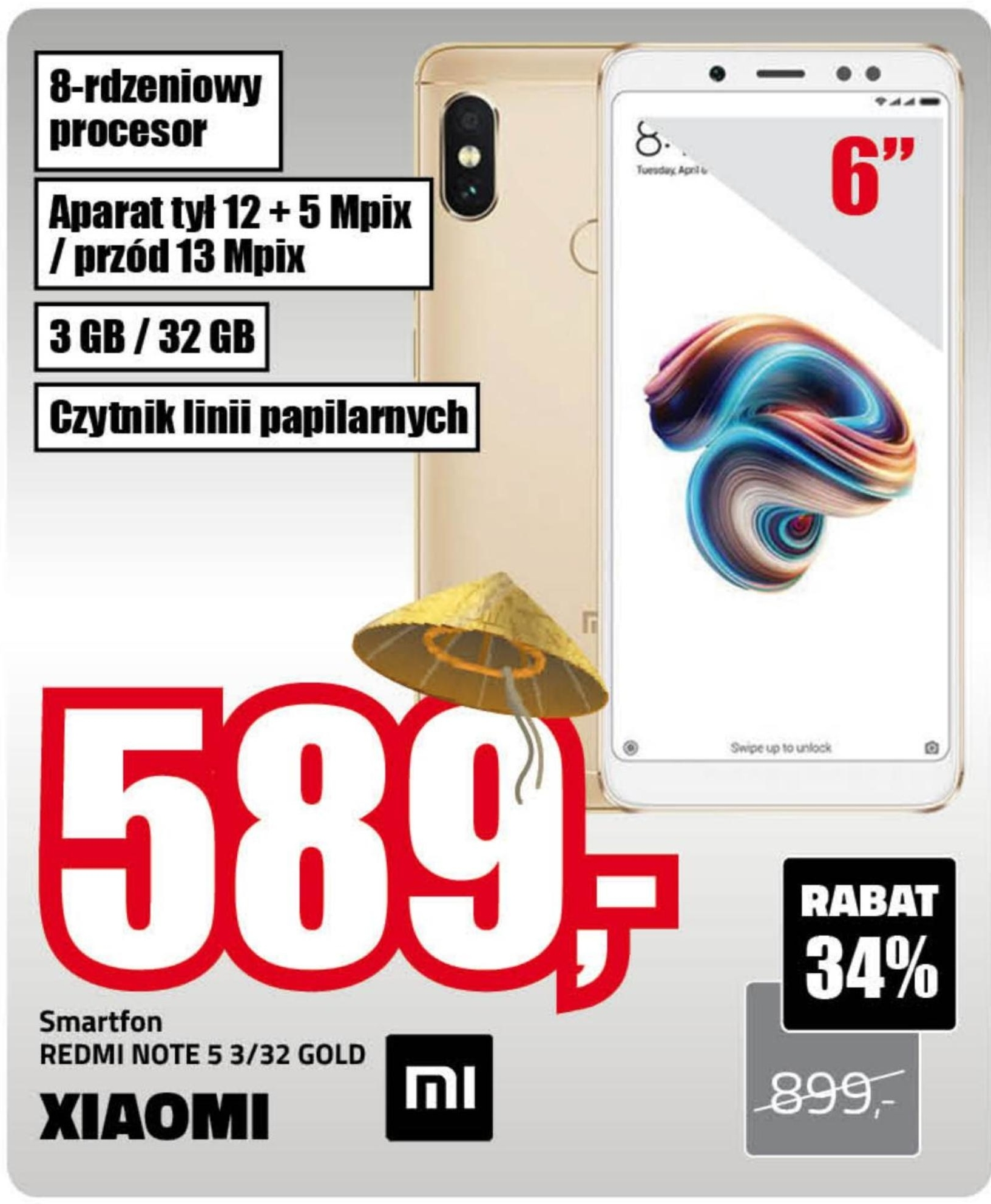 Smartfon Redmi Note 5 Xiaomi niska cena