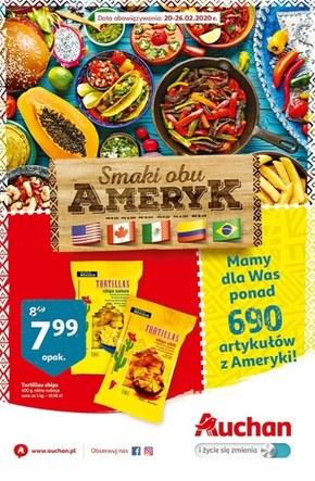 Smaki obu Ameryk w Auchan