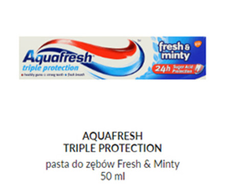 Pasta do zębów Aquafresh