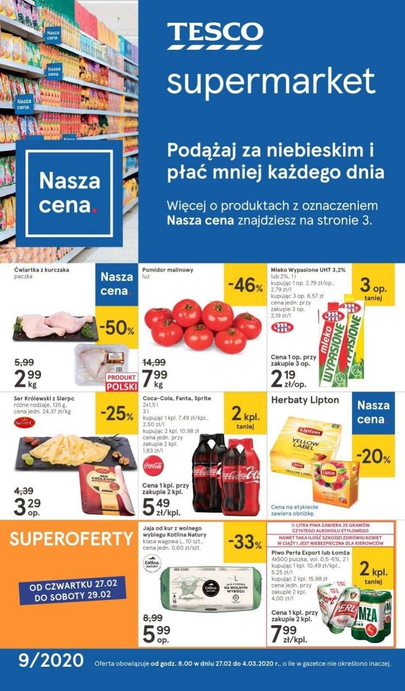 Gazetka promocyjna Tesco Supermarket - ważna od 27. 02. 2020 do 04. 03. 2020