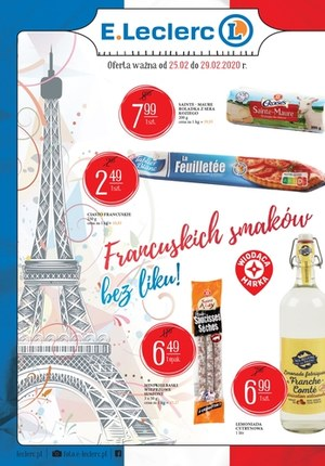 Gazetka promocyjna E.Leclerc - Francuskich smaków bez liku w E.Leclerc