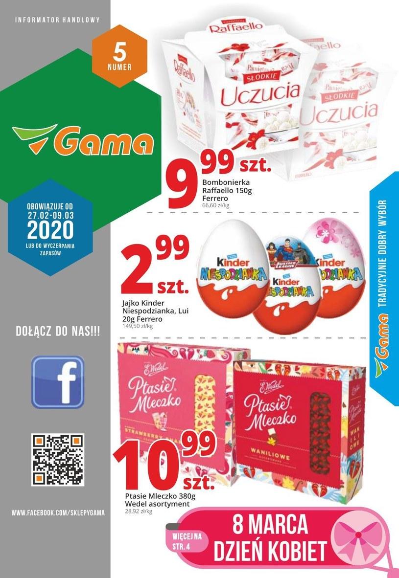 Gazetka promocyjna Gama - ważna od 27. 02. 2020 do 09. 03. 2020