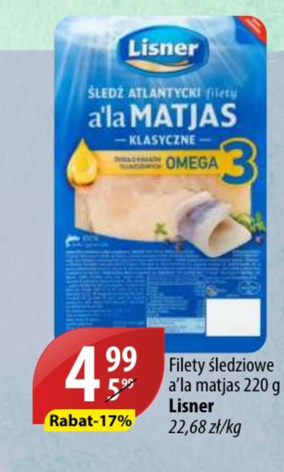 Filety śledziowe Lisner niska cena