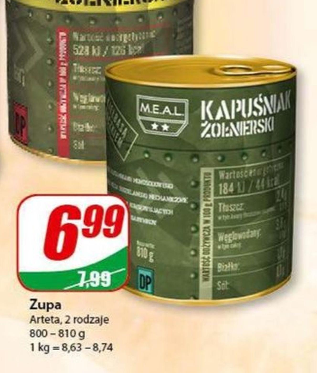 Zupa gotowa Arteta niska cena