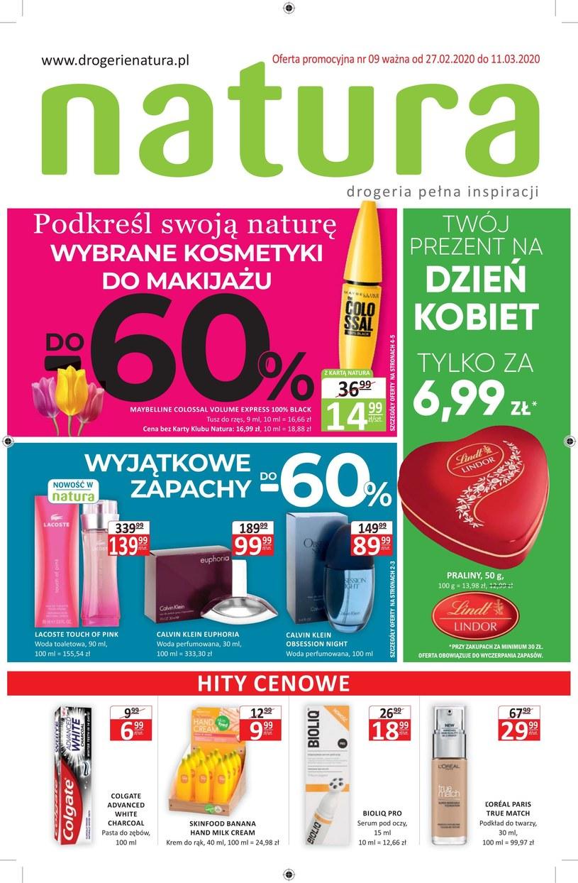 Gazetka promocyjna Drogerie Natura - ważna od 27. 02. 2020 do 11. 03. 2020