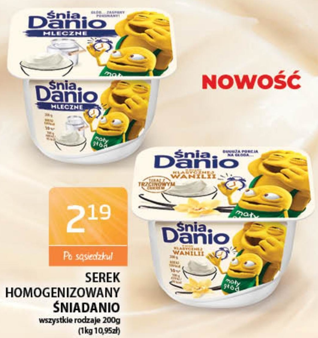 Serek homogenizowany Danio niska cena