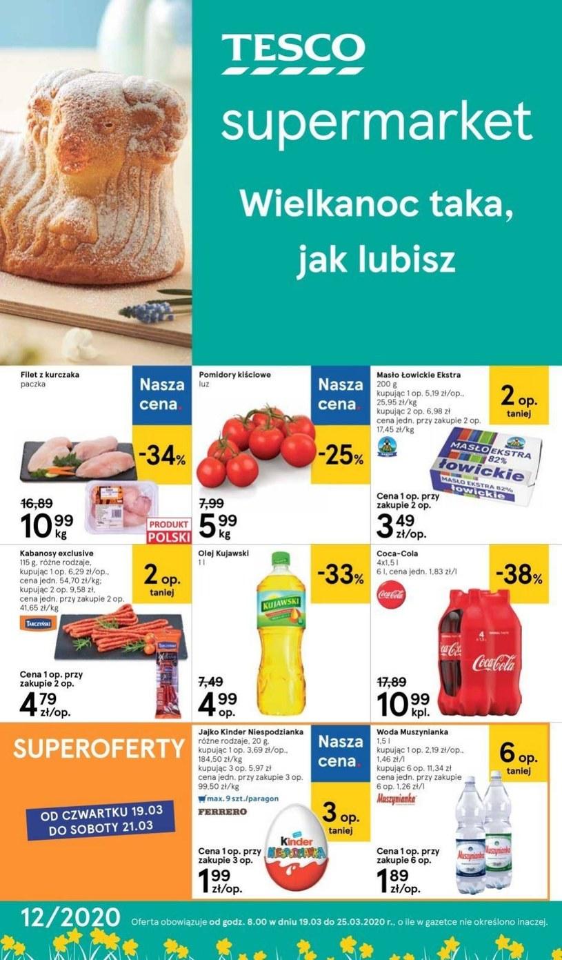Gazetka promocyjna Tesco Supermarket - wygasła 10 dni temu
