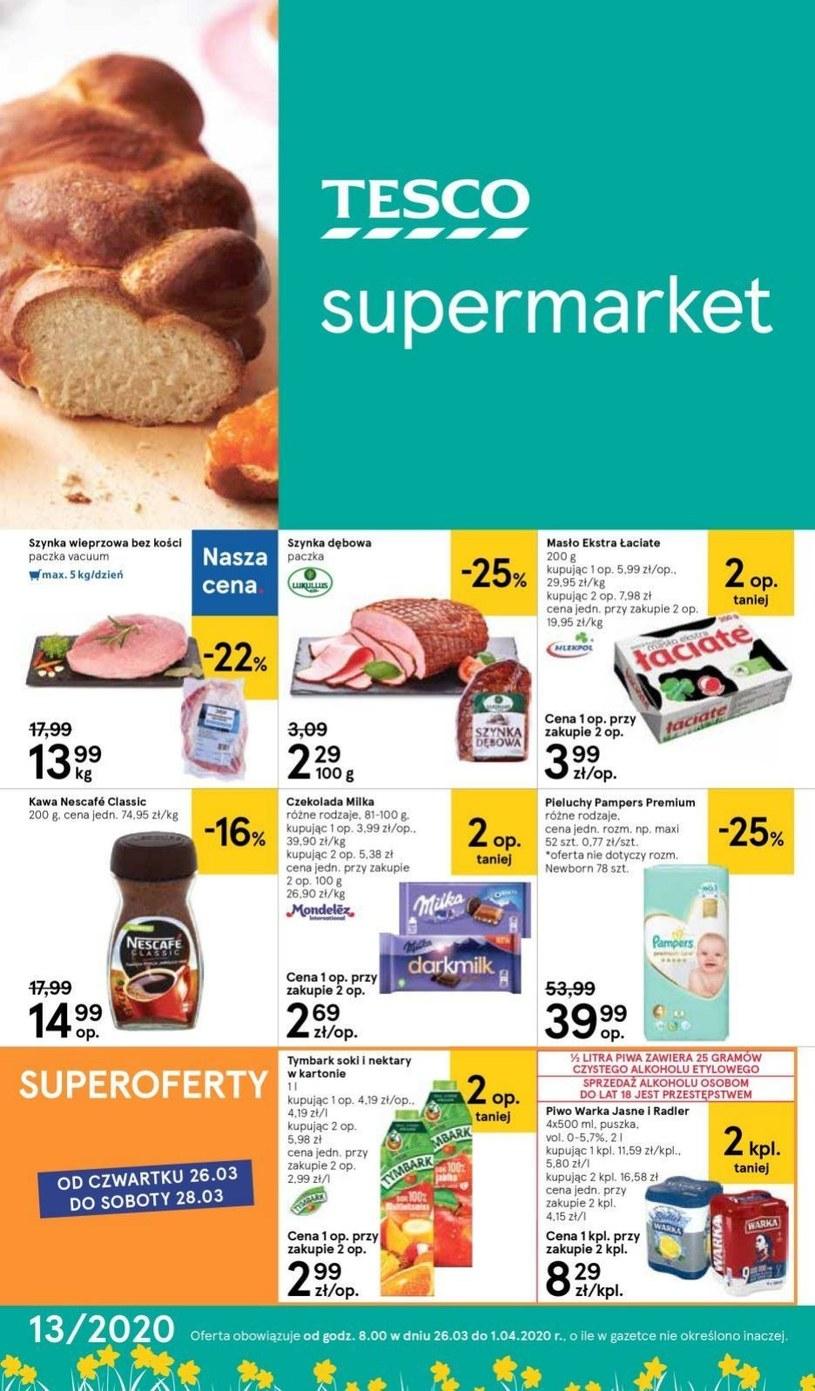 Gazetka promocyjna Tesco Supermarket - ważna od 26. 03. 2020 do 01. 04. 2020