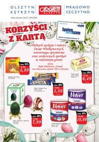 Gazetka promocyjna Społem Olsztyn - Sprawdź korzyści z kartą PSS Olsztyn - ważna do 13-04-2020