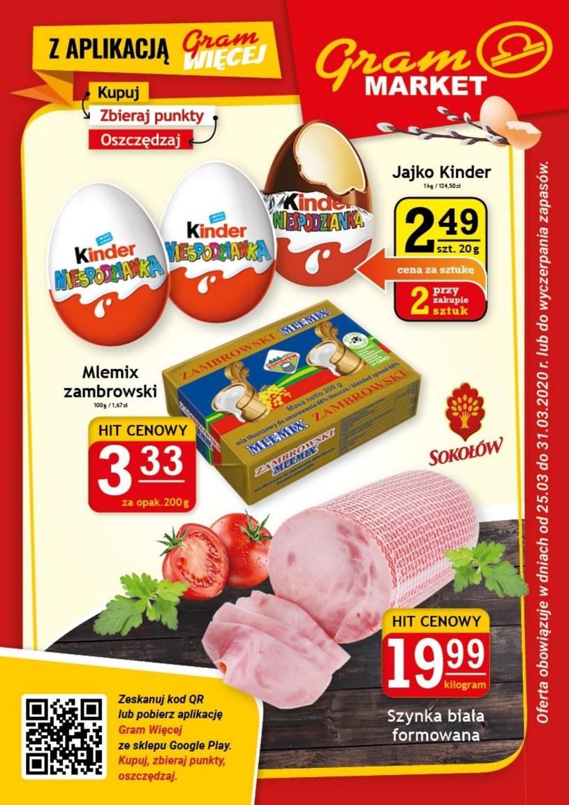 Gazetka promocyjna Gram Market - ważna od 25. 03. 2020 do 31. 03. 2020